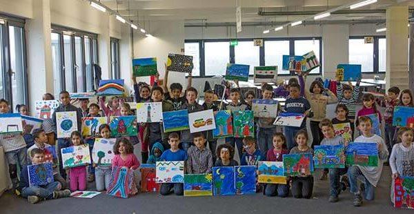 Migration: Kinder malen ihre Heimat