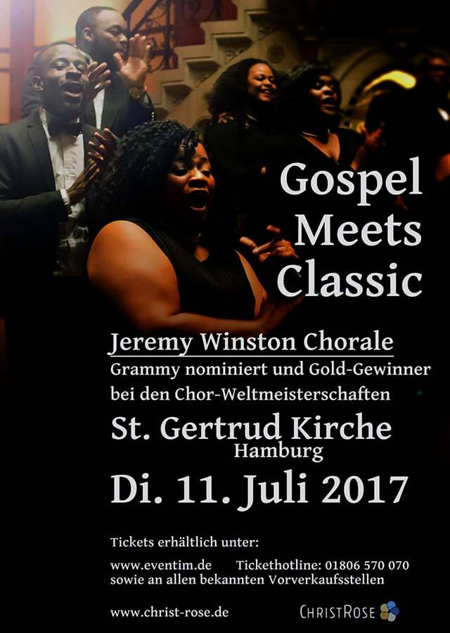Gospel meets Klassik –  Benefiz-Konzert des Jeremy Winston Chorale in Hamburg