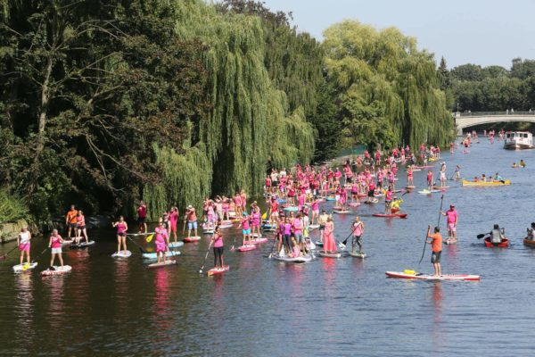 Hamburg wird pink meets Paddle for Hope