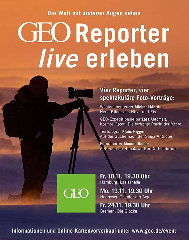 GEO-Reporter live erleben in der Laeiszhalle
