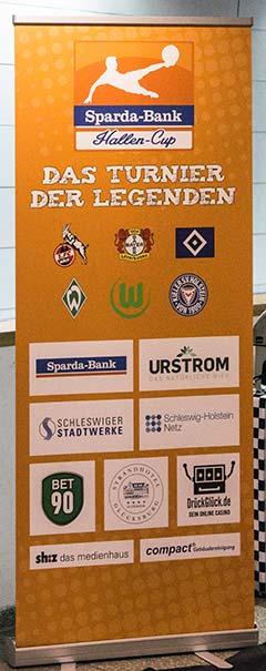 Aufsteller des Sparda-Bank-Cups: Das Das Turnier der Legenden