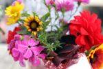 Blumengedeck im Sommer
