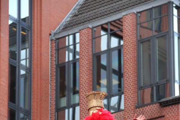 Trend? Riesiges Kleid bei einem Umzug in Hamburg