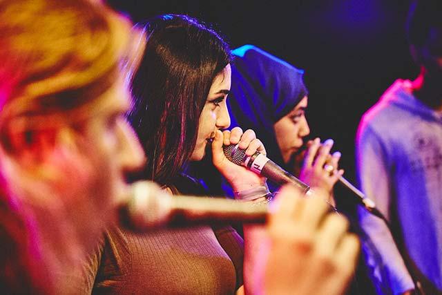 Benefizfestival Rap for Refugees in der Markthalle Rappen für den guten Zweck
