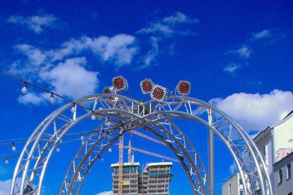 Spielbudenplatz und die der Viertel Meile Design Markt
