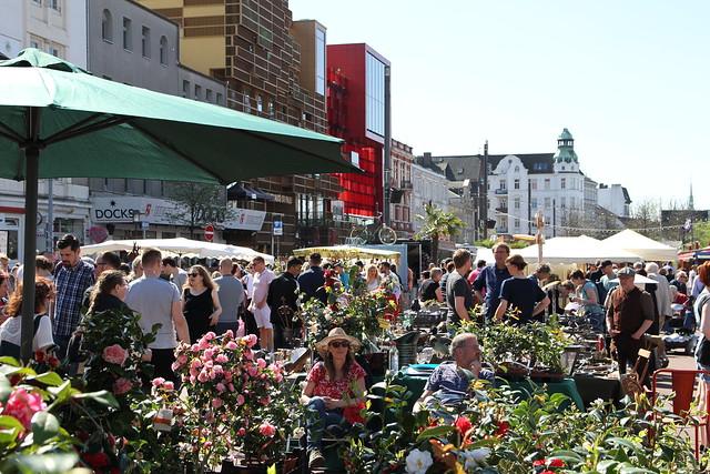 So war der 1. Blumen & Gartenmarkt auf dem Spielbudenplatz: Garden Love St. Pauli