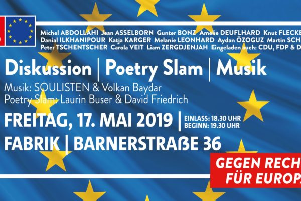 Plakat: Gegen Rechts - Für Europa!