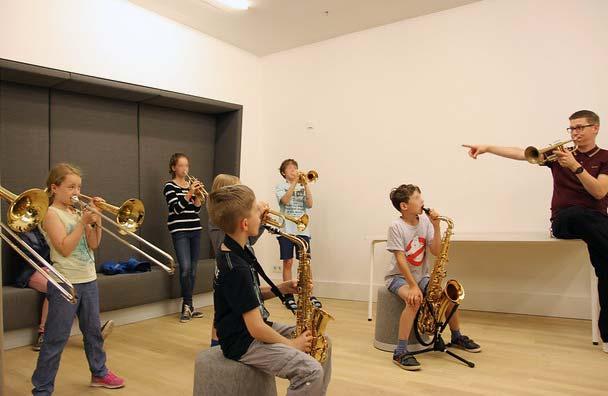 Blasinstrumenten-Unterricht in den KAISTUDIOS in der Elbphilharmonie