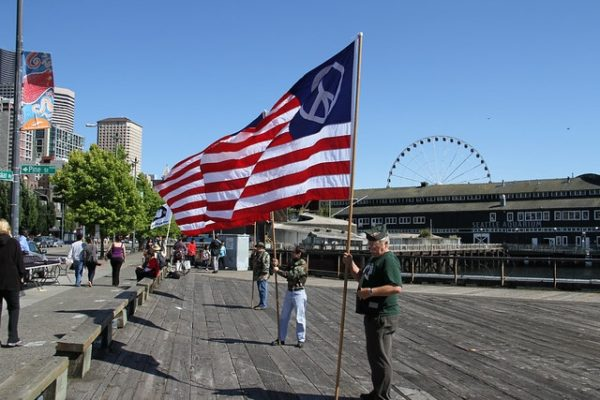 USA Banner in Seattle - Checkliste USA-reise