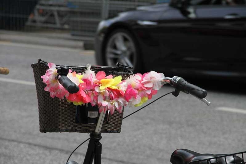 Blüten am Rad in Hamburg