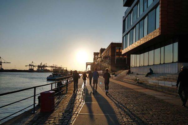 Hamburg an der Elbe in der Coronakrise
