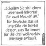 Lebenmittelsvorrat und die Deutschen