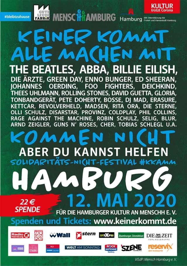 Coole Idee: Das Solidaritäts-Nicht-Festival 'Keiner kommt, alle machen mit'