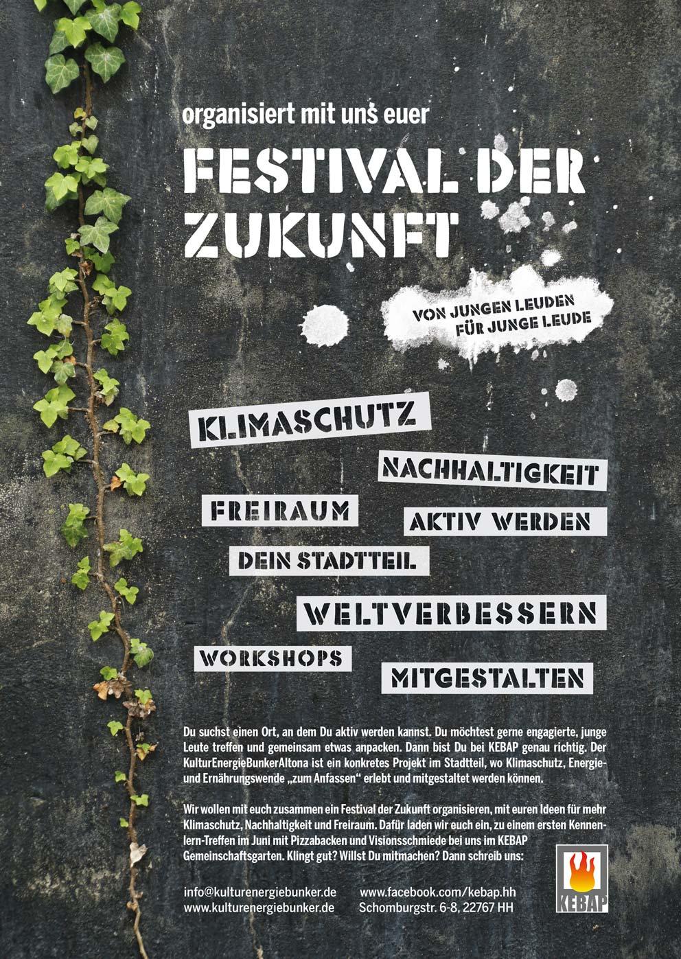 Festival der Zukunft: Das KEBAP sucht junge engagierte Leute für ein Nachhaltigkeitsfestival