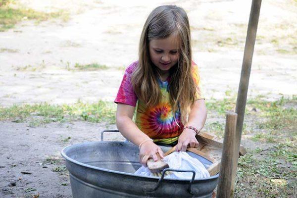 Wäsche waschen am Kiekeberg