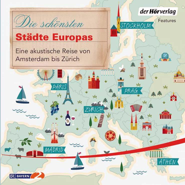CD-Cover: Die schönsten Städte Europas