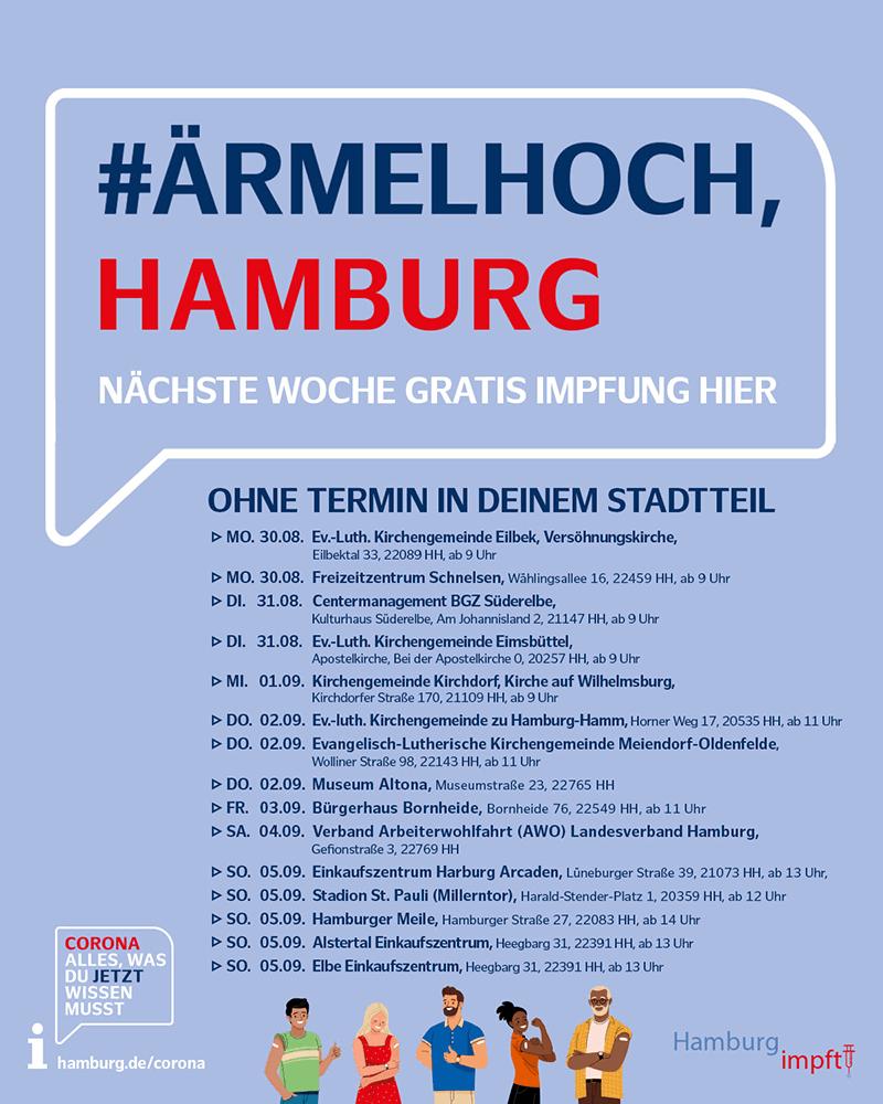 Hamburg impft - #ÄrmelHoch